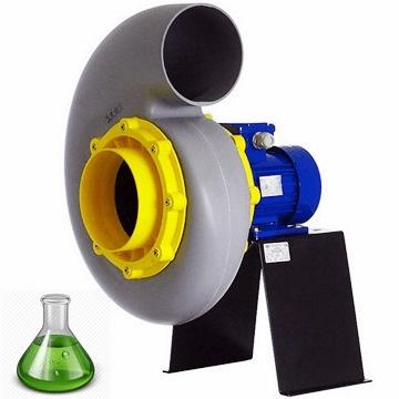 PP asit fanı, plastik salyangoz fan, asit ve kimyasal buhar tahliye fanları, asidik ortam aspiratörü