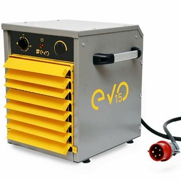 Sanayi tipi elektrikli fanlı endüstriyel ısıtıcı evo tech