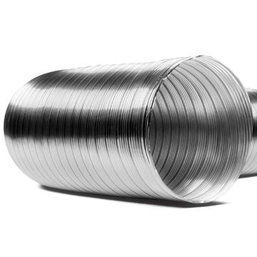 Aluminyum yarı esnek kenetli aspiratör borusu, semi alu,