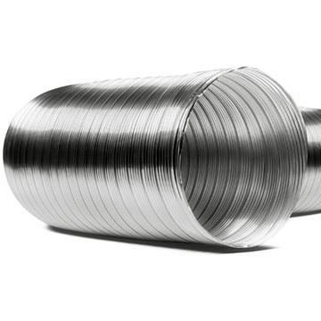 Semi İnox çelik kenetli yarı esnek yüksek ısıya dayanıklı flex borular, kaan bacası, şömine bacası boruları çelik baca sistemleri