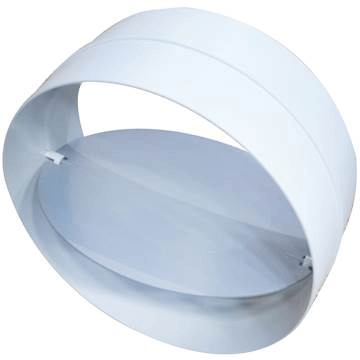 Tek yönlü plastik klape back-draft damper, plastik baca klapesi, plastik aspiratör klapesi, 100 lik, 125 lik, 150 lik plastik klapeler,