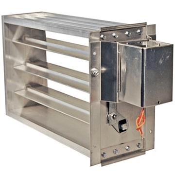 Yangın duman tahliye damperleri, f300, f400 yüksek ısı dayanımlı duman damperi modelleri, özel imalat duman damperleri, monofaze 220 volt veya dc 24 volt motorlu damperler