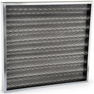 G2 metal yağ tutucu kaset filtre, zigzaglı çelik örgülü veya aluminyum metalli, yağ tutucu kaset tip penel filtre