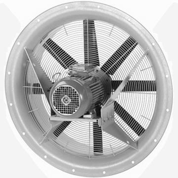 AXS kısa gövdeli aksiyel kovanlı havalandırma fanı, soğutmalı motorlui, trifaze ve monofaze aksiyel havalandırma fanları AXS vitlo endüstriyel aksiyal fan modeli