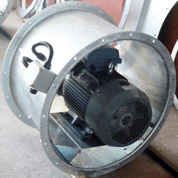 Yüksek debili, çift yönlü ve çift hızlı endüstriyel kanal tipi fan