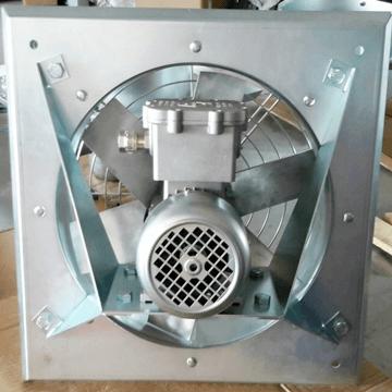 Aluminyum kanatlı pervaneli duvar tipi aksiyal fan