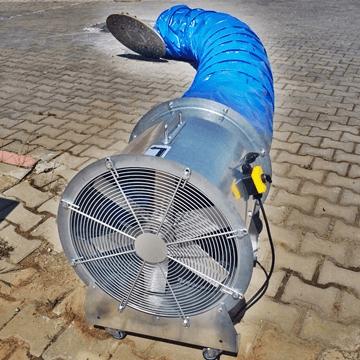 Mobil seyyar duman tahliye fanı, seyyar havalandırma fanı, seyyar vantilatör, seyyar aspiratör