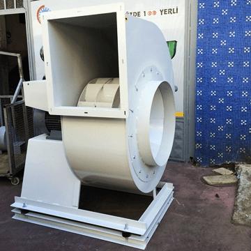 Yüksek debili orta basınçlı, yüksek basınçlı tek emişli, direkt akuple motorlu salyangoz fan