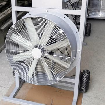 Aksiyel üfleme fanı taşınabilir