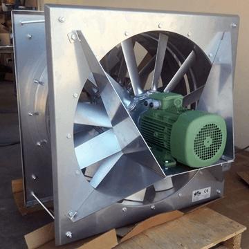 Duvar tipi endüstriyel aksiyal egzoz fanları aspiratör