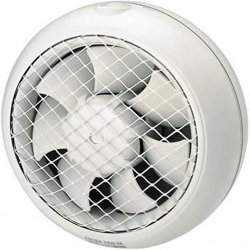 Cam pencere duvar tipi aksiyel fanlar, aspiratörler, panjurlu modeller, çift yönlü havalandırma fanları