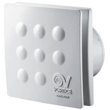 Vortice punto four şık tasarımlı, dekoratif, plastik, sessiz aksiyel duvar tavan tipi banyo havalandırma fanı, aspiratör modelleri, ankara, istanbul, izmir