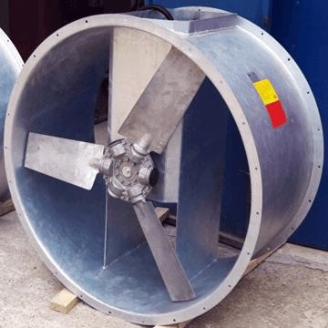 Bifurcated ısı dayanımlı yüksek debili kanal tipi aksiyal fan