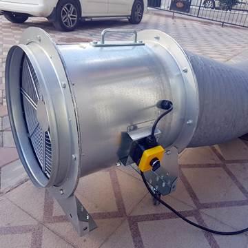 Mobil toz duman emici seyyar hortumlu taşınabilir fan