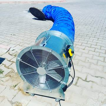 Exproof mobil fan, atex seyyar havalandırma fanı aksiyel