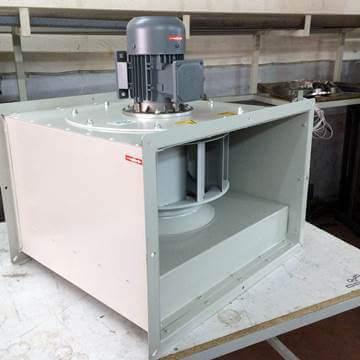 Dıştan motorlu rotorlu kanal tipi fan