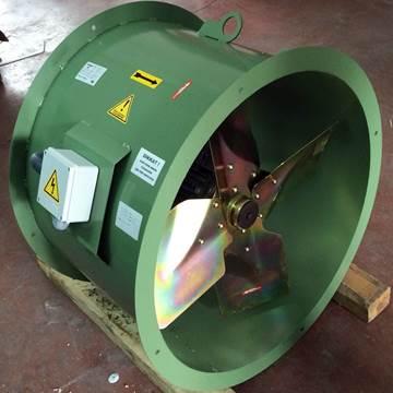 4 kanatlı kanal tipi aksiyal kovanlı fan