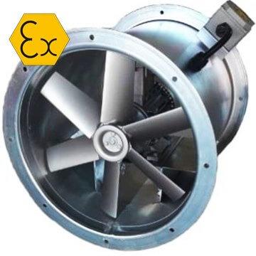 AXD/ATEX kanal tipi aksiyal exproof fan, IIB, IIC sınıfı atex belgeli exproof fan vitlo Axd