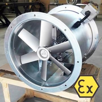AXD/ATEX kanal tipi aksiyal exproof fan