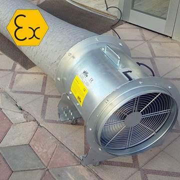 Axde-Atex-Mob mobil exproof duman tahliye fanı, mobil havalandırma aspiratörü atex