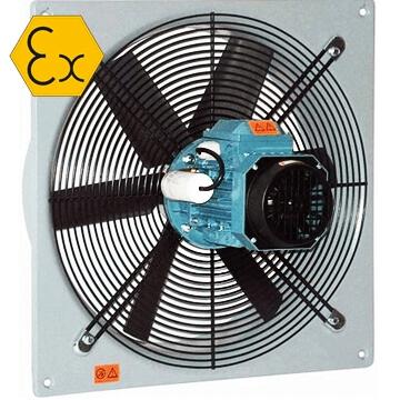 AXW ATEX Exproof aksiyal duvar tipi egsoz fanı, aatex belgeli, vitlo axw, ZON1, ZON2, IIB, IIC sınıfı