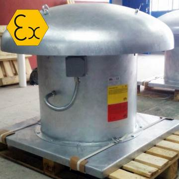 R-AXD Atex çatı tipi aksiyel exproof havalandırma fnaı, atex endüstriyel exproof çatı fanı