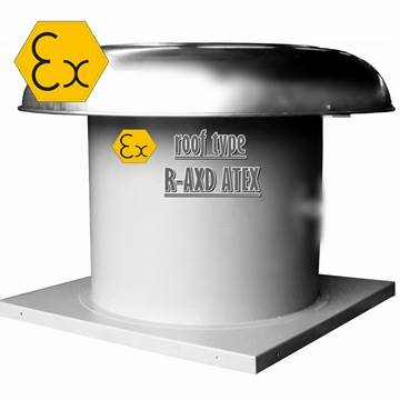 R-AXD ATEX exproof çatı fanı modelleri, aksiyal çatı tipi ex-proof aspiratör imalatı