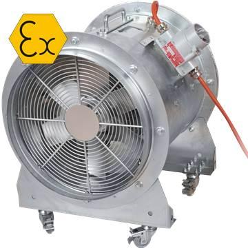 Ex-Proof mobil Seyyar Fan, Atex duman tahliye fanı taşınabilir portatif exproof aksiyal aspiratör, vantilatör