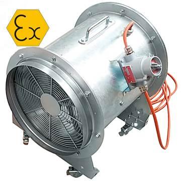 AXD-ATEX-MOB mobil exproof, expolosion proof aksiyal portatif seyyar havalandırma fanı aspiratör vantilatör